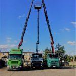 transport oraz montaż słupów energetycznych